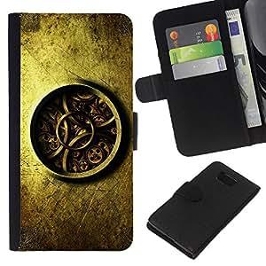EJOY---La carpeta del tirón la caja de cuero de alta calidad de la PU Caso protector / Samsung ALPHA G850 / --Detalladas Mecánica Reloj Reloj