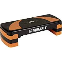 Mirafit 3 Level Aerobic Exercise Stepper Board - Black/Orange
