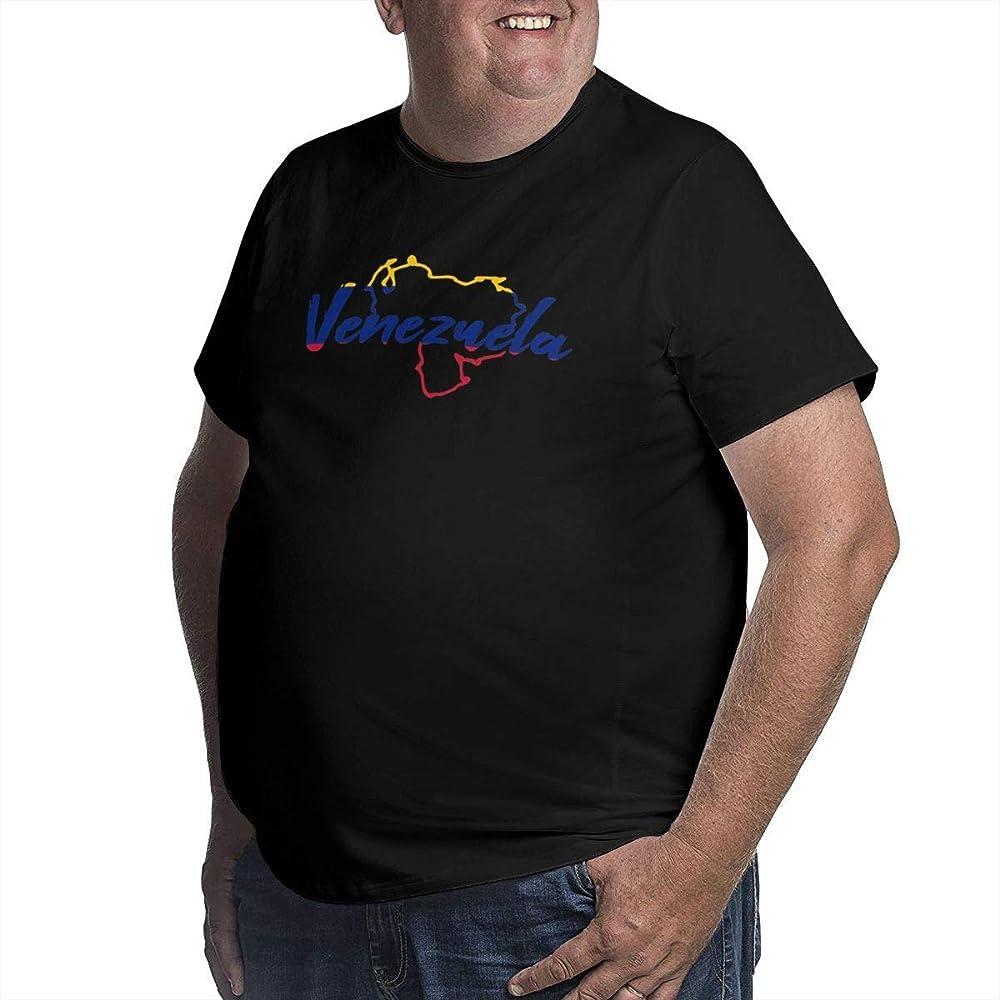 Mapa de Venezuela Cuello Redondo Camisas de Talla Grande para Hombre Manga Corta Talla XL: Amazon.es: Ropa y accesorios