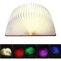 tatuer plegable LED libro lámpara, iluminación con 2500mAh batería de litio Noche Lámpara de mesa, Lámpara de mesa lámpara decorativa con Multi de colores, 360° plegable [Clase energética A + + +]