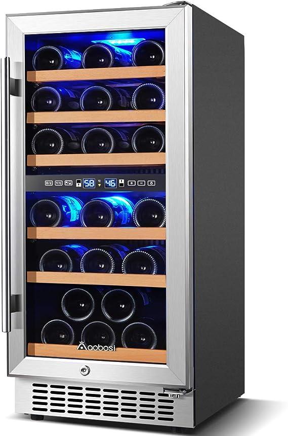 Aobosi 15 inch 30 Bottle Wine Refrigerator | Amazon