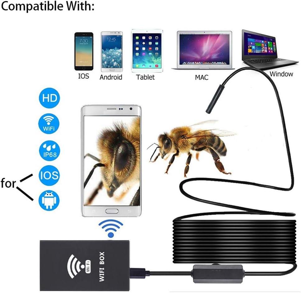 iOS Mac XIALEY Telecamera di Ispezione Senza Fili Laptop Smartphone 12 Milioni di Pixel Telecamera di Ispezione HD IP67 Telecamera per Serpente Endoscopio Wireless per Android Windows