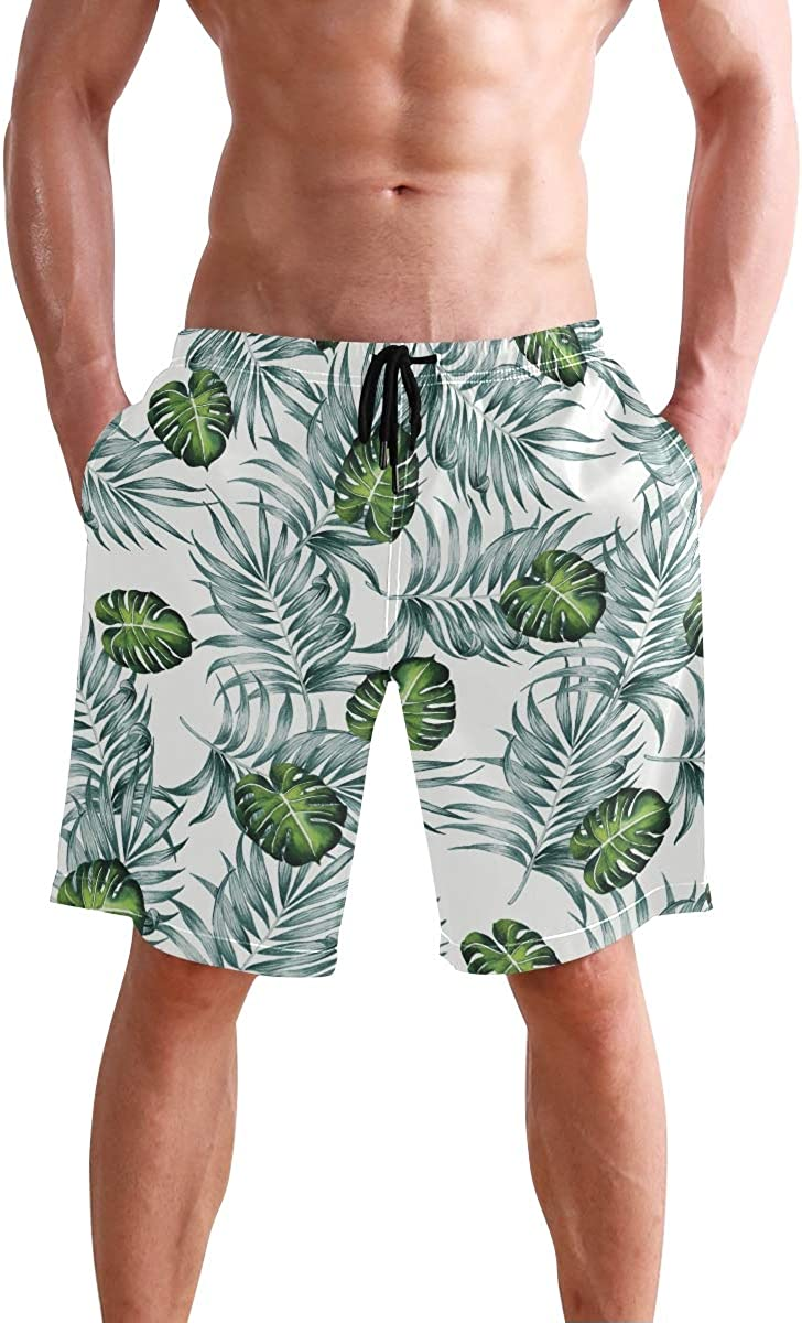 Titlesign Aztec Tribal Ethnic Colorful Mens Swim Trunks Quick Dry Board Shorts with Pockets Summer Swimsuit Beach Short