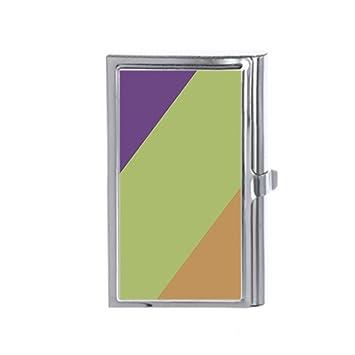 Purple green yellow wood grain custom business card holders credit purple green yellow wood grain custom business card holders credit id card wallet name reheart Images