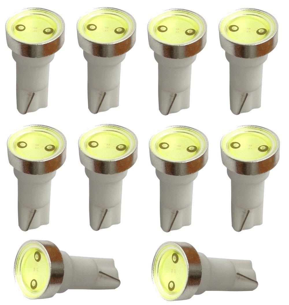 Aerzetix 10x ampoule T5 12V LED HIGH POWER 1W blanc pour tableau de bord