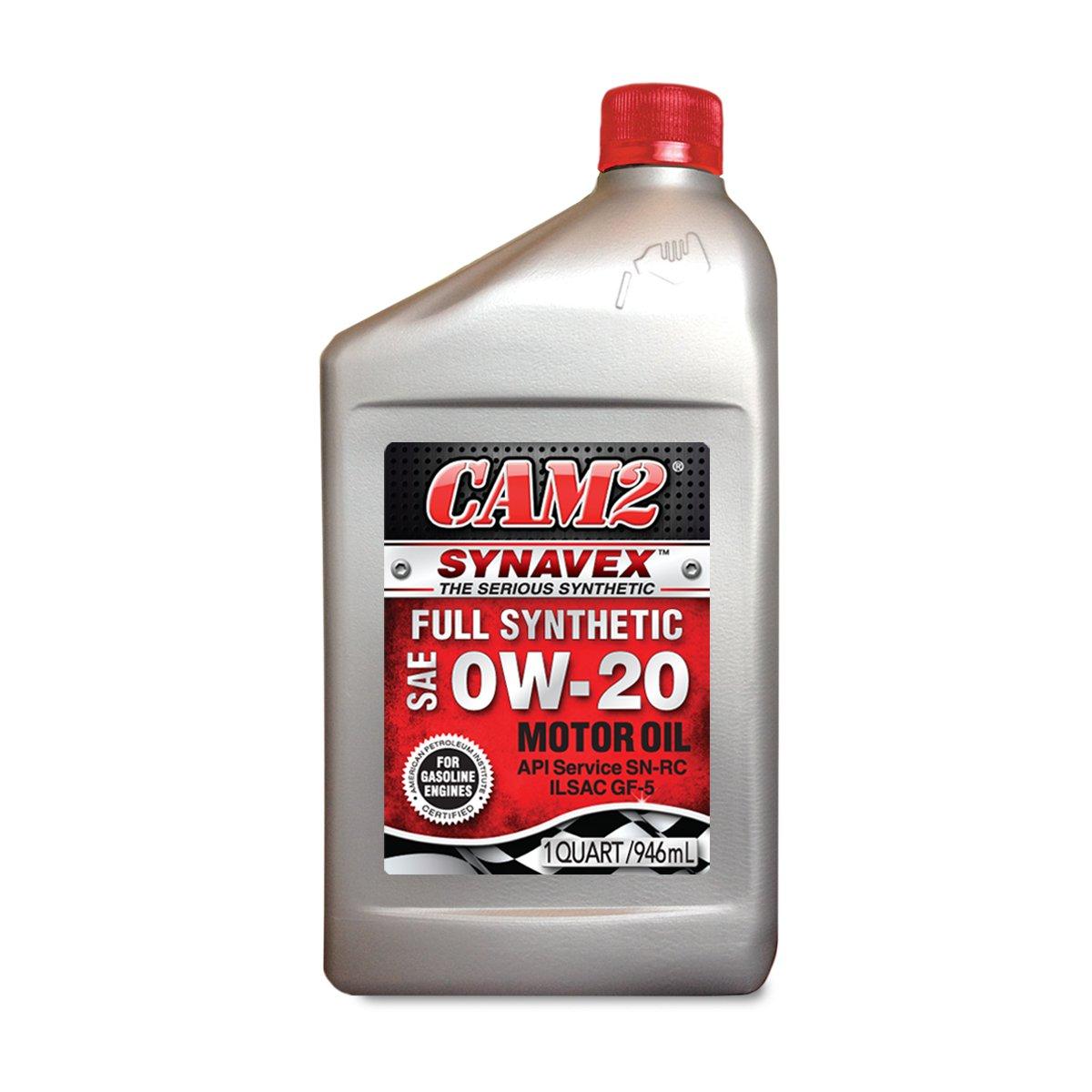 CAM2 80565-38306-6PK Synavex 0W-20 Motor Oil - 1 Quart, (Pack of 6)