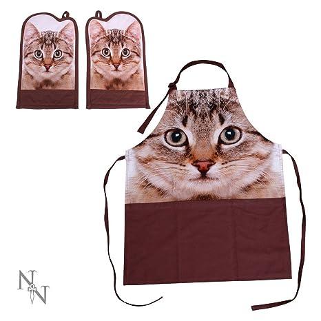 Nemesis Now delantal para gato y guantes de horno – delantal para gatos/guante de