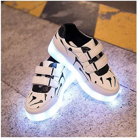 Miarui Zapatos LED para niños USB Carga de Deporte Brillante