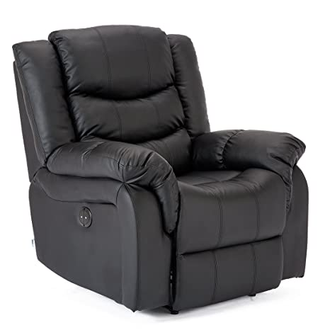 Outstanding More4Homes Tm Seattle Electric Automatic Recliner Armchair Sofa Home Lounge Lounge Bonded Leather Chair Black Spiritservingveterans Wood Chair Design Ideas Spiritservingveteransorg