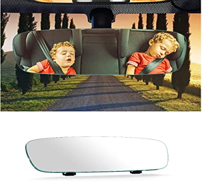 12 Wide Angle Universal Curve Convex Rearview Mirror Interior Clip On Original Mirror White Mirror Yoolight Car Rear View Mirror