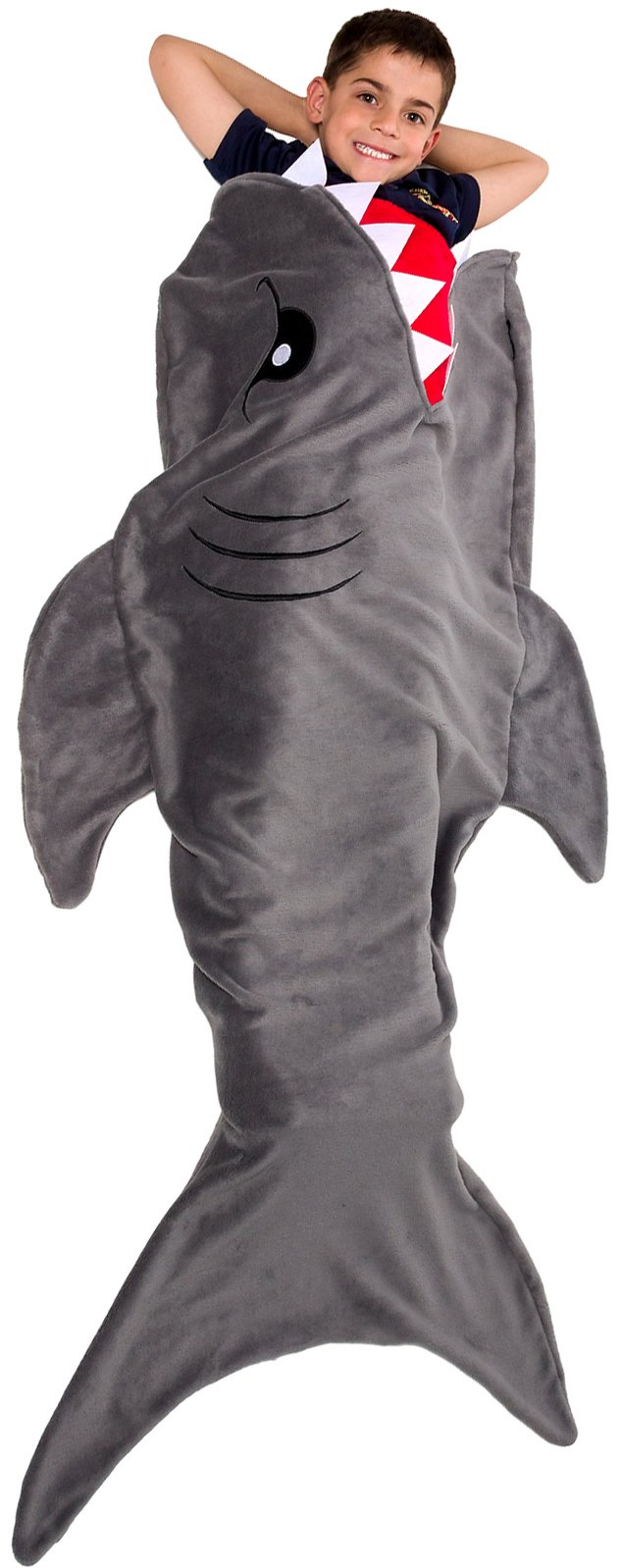 Silver Lilly Animal Tail Blanket - Plush Animal Sleeping Bag Blanket for Kids (Gray Shark) by Silver Lilly