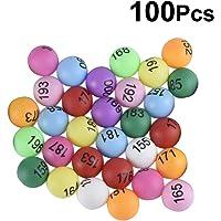 YeahiBaby Bolas de Ping-Pong de 100PCS 40m m numeradas de los Tenis de Mesa con el número para la decoración del Partido del Juego
