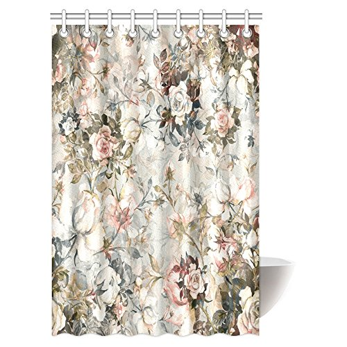olor Bouquet of Beautiful Roses Shower Curtain, Exquisite Trendy Flower Print Bathroom Shower Curtain 48 By 72 Inches (Beautiful Rose Flowers)