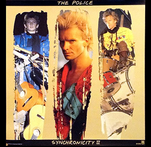 ((24x24) The Police - Sting - Synchronicity II Original 1983 Promo Poster)