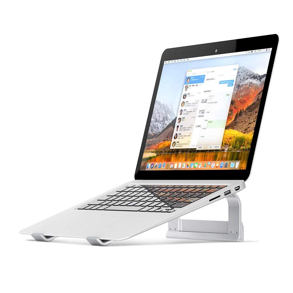 Veramz Laptop St/änder Laptopst/änder f/ür B/üro und Haus Ergonomische Stand f/ür MacBook und Laptops Aluminium Laptop Stand Silber