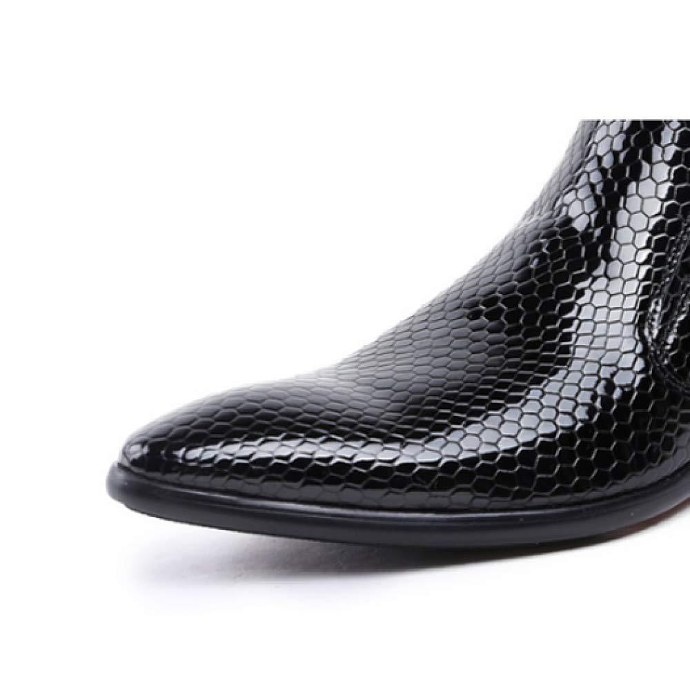 YCGCM Herrenschuhe, High Lässig, Top Schuhe, Komfort, Booties, Lässig, High Trend, Wandern, Abriebfest schwarz b7c349