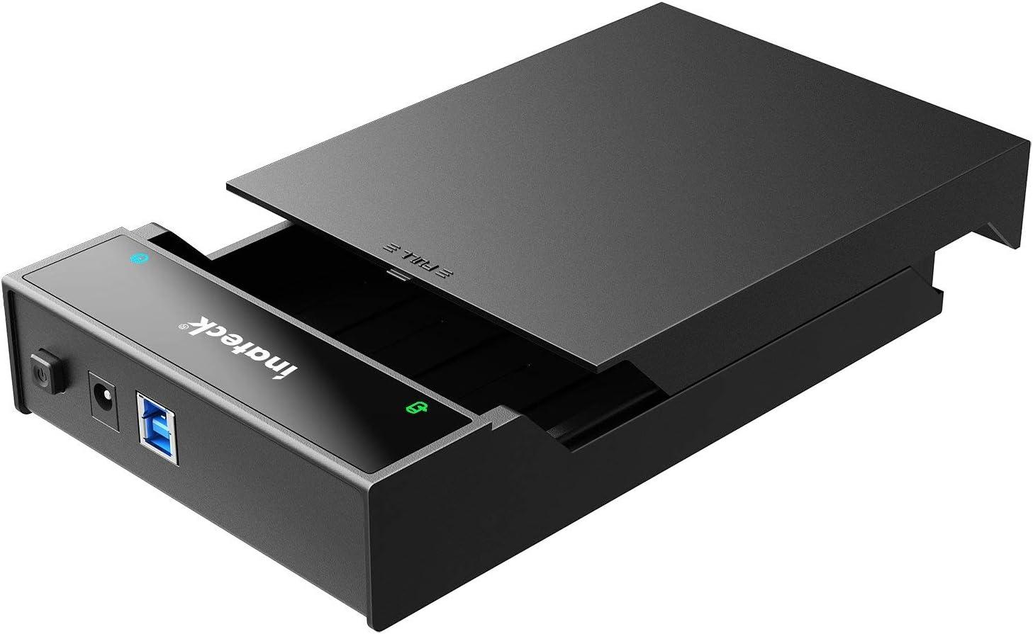 Inateck - Caja de Disco Duro (2.5/3.5, USB 3.0), Color Negro: Amazon.es: Informática