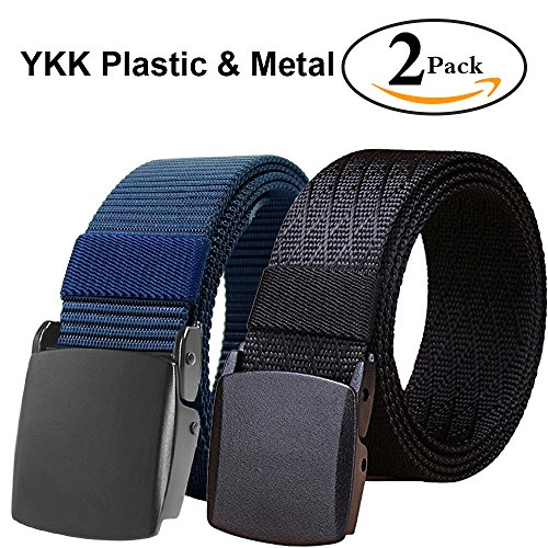 Fairwin Tactical Belt, Nylon Military Style Web Riggers Belt with Metal Buckle for Tactical Casual Outdoors Hiking Wear - Adjustable Web