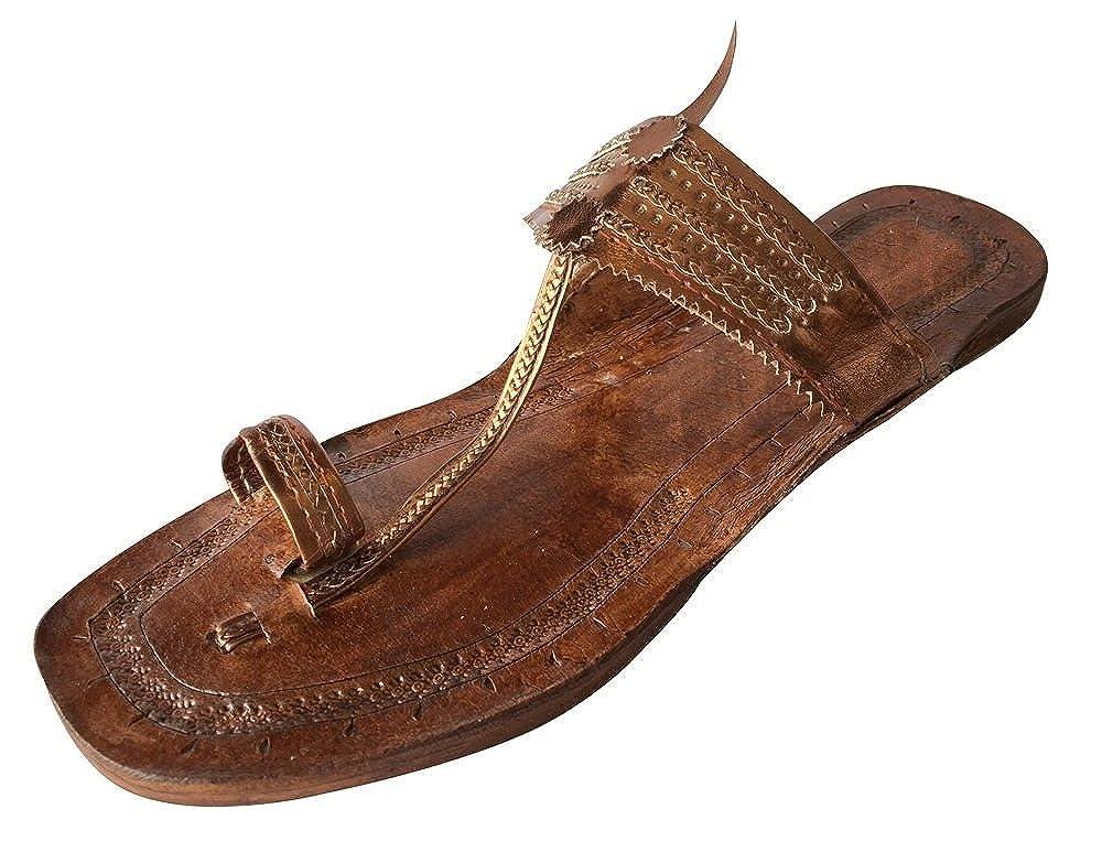 Step n Style Indian Handmade Leather Kolhapuri Slipper Mojadi Jutti Kurti Sandals DD645
