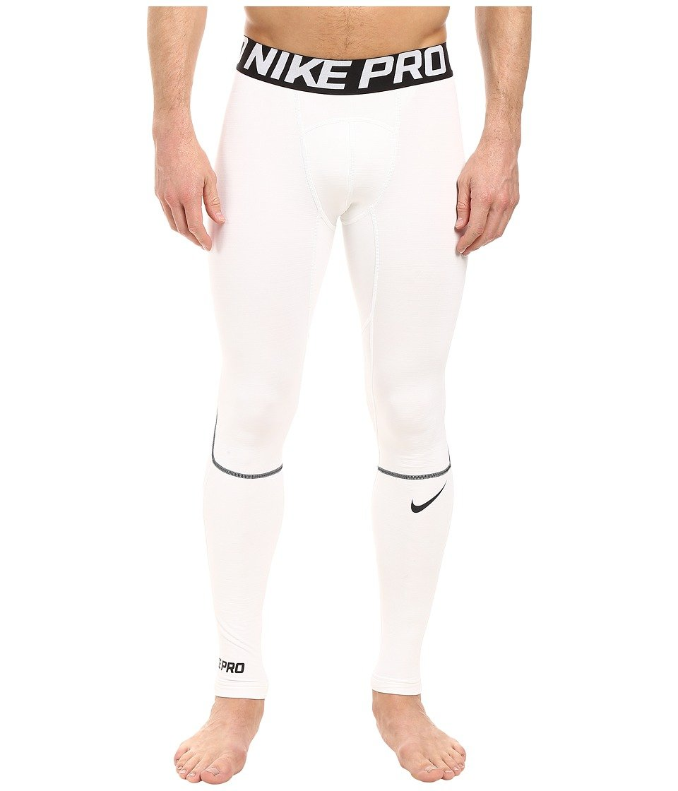 d69fe3550 Amazon.com : Nike Pro Hyperwarm Training Tight White/Black/Black Mens  Workout : Everything Else