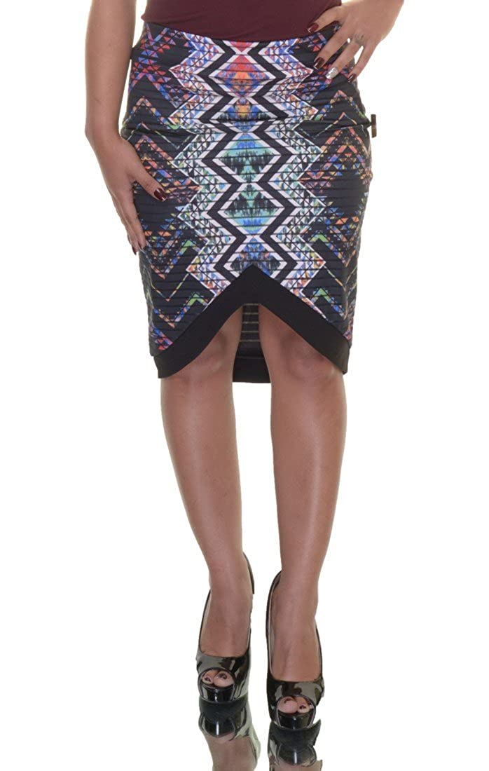 a6655edc293 Material Girl Chevron Patter Skirt Size S at Amazon Women s Clothing store