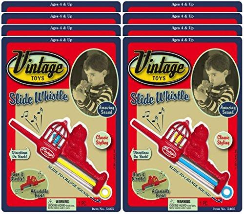 Ja-Ru Vintage Slide Whistle Party Favor Bundle Pack (Slide Vintage)