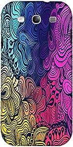 Snoogg Textura Inconsútil Con Las Flores Abstractas Interminables Origen Étni...