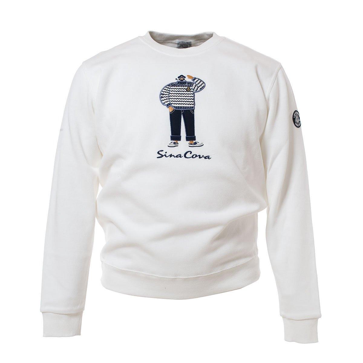 SINACOVA Men's sweatshirt Off-White Large by SINA COVA