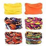 Headwear - 6PCS Scarf Bandanna Headband Yoga Sports Headband,Head Wrap,Balaclava Multifunctional Stretchable Sport Face Mask (6Styles2)