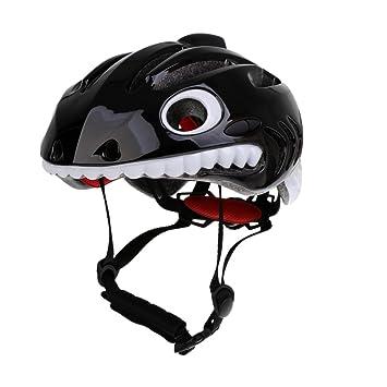 MagiDeal Niños Tiburón Diseño Bicicleta Casco de Seguridad Casco – Casco Juvenil niña Ajustable Casco