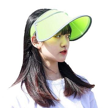 SHOUSBOXHI Protección Solar de Verano Sombreros sólidos Casuales ...