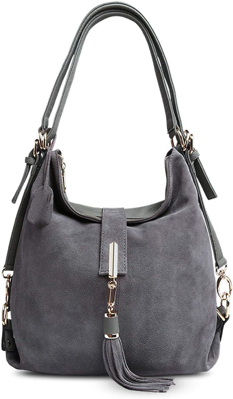 Women Leather Shoulder Bag Female Leisure Casual Handbag Messenger Top-handle bags,Dark Grey