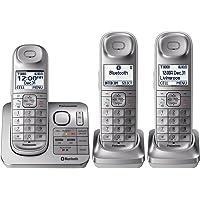 Teléfono Panasonic KX-TGL463S Plateado 3 Auriculares Reacondicionado (Renewed)