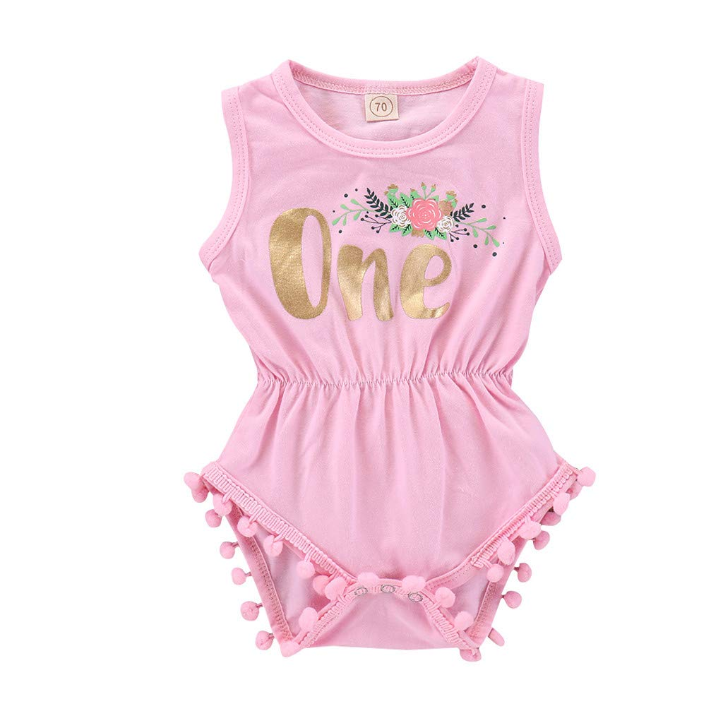 Hengzi Jumpsuit for 0-3Y Summer Theme Activities Autumn Halloween Infant Baby Girl Kid Letter Floral Printed Tassel Romper Bodysuit Outfits Baby