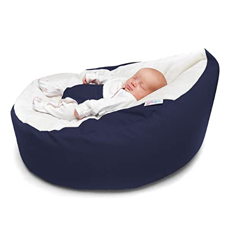 Enjoyable Navy Luxury Cuddle Soft Gaga Baby Bean Bags Pabps2019 Chair Design Images Pabps2019Com