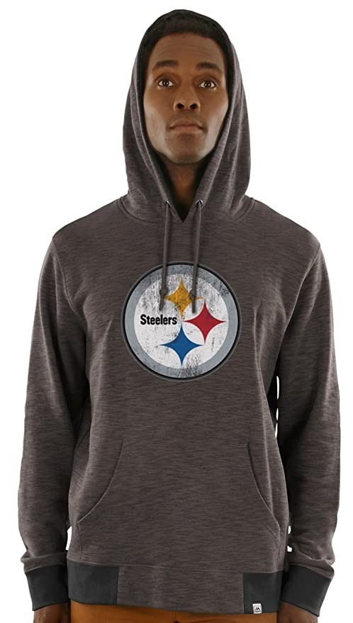 new style db1fb 06cad Majestic Pittsburgh Steelers Game Day Classic Hoody