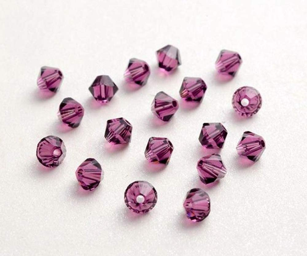 100pcs x Genuine Preciosa Bicone Crystal Beads 3mm Amethyst Alternatives For Swarovski #5301//5328 Pre-B311