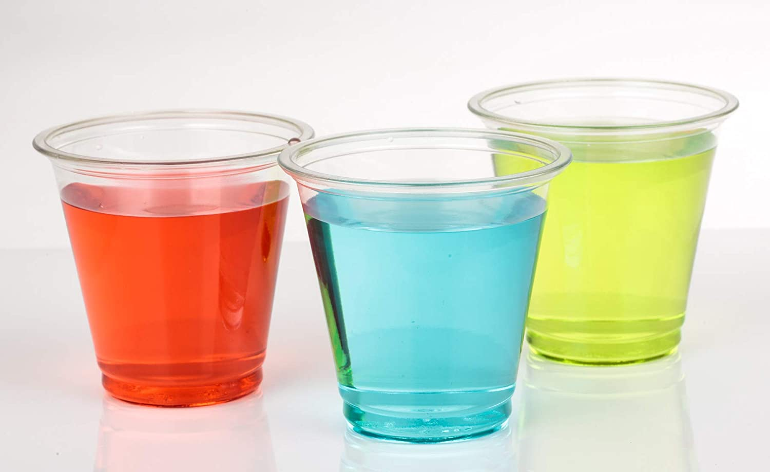 Golden Apple, 5oz clear plastic cups. Disposable Mini Cups Plastic Cups, Plastic Shot Glasses, Jello Shot Party Tumblers – 50 ct. BPA Free.
