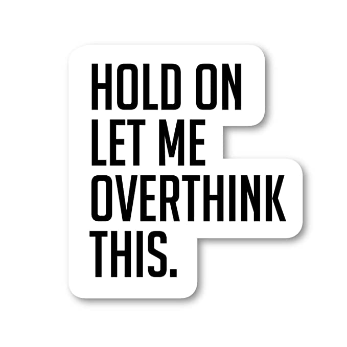 """Hold On Let Me Over Think This Sticker Funny Quotes Stickers - Laptop Stickers - 2.5"""" Vinyl Decal - Laptop, Phone, Tablet Vinyl Decal Sticker S4236 best decorative laptop sticker"""