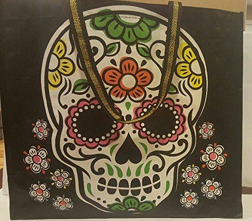 reusable-tjmaxx-sugar-skull-shopping-bag-tote