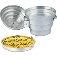 Kuber Industries Aluminium Idli Maker Cooker with 4 Plates+ 3 Plates Steamers (2 Dhokla Plate + 1 Patra Plate), 9.5…