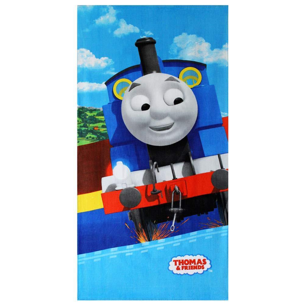 140 x 70 cm 140 x 70 Telo Mare per Bambini in Cotone Blue 1 Thomas /& Friends