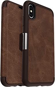 OtterBox STRADA SERIES Case for iPhone Xs Max - Frustration Free Packaging - ESPRESSO (DARK BROWN/WORN BROWN LEATHER)