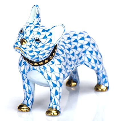 Amazon com: Herend Porcelain Figurine Puppy Dog Frenchie