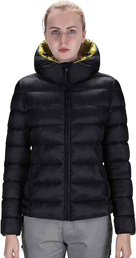 SWISSWELL Light Down Coat Women Hooded Lightweight Packable Down Jackets Outwear