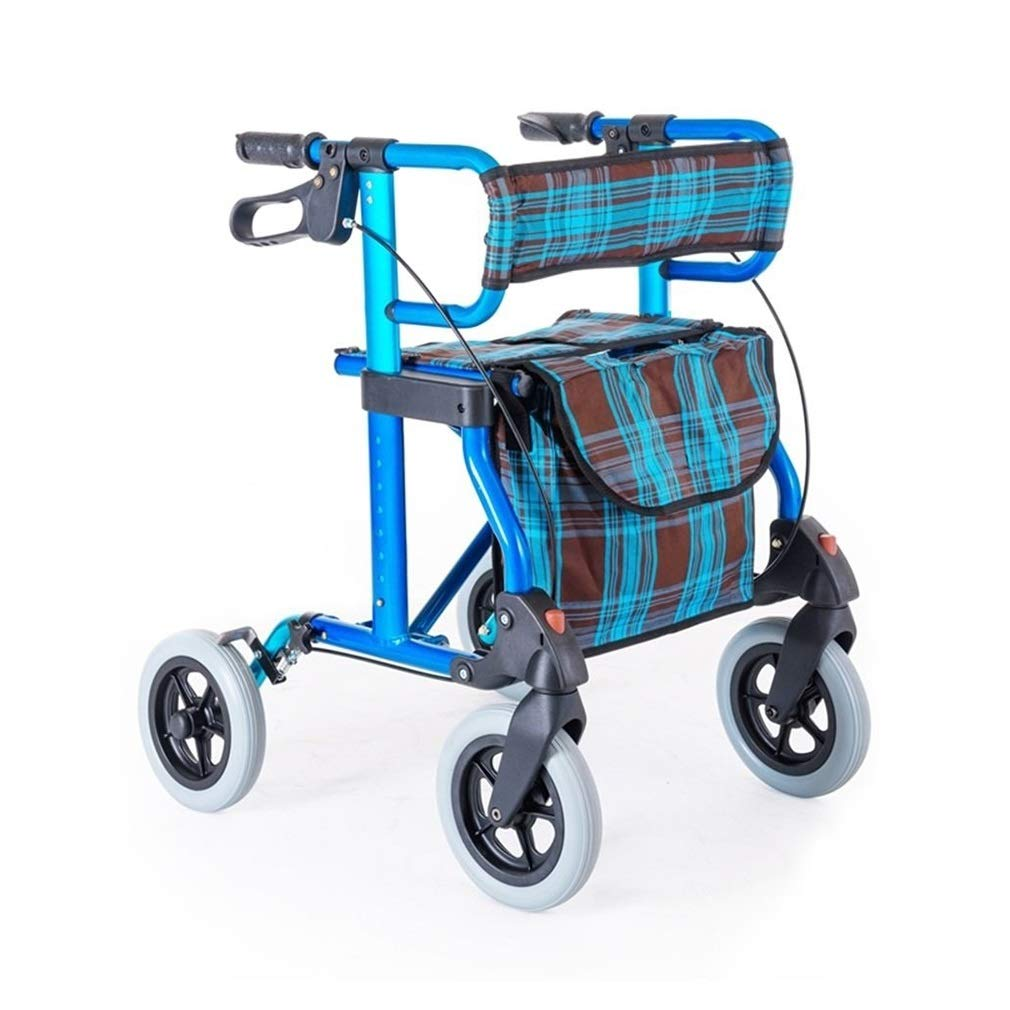 Rollator Walker Vive, Rolling Walker with Seat Adjustable Handle Height Lockable Brake Auxiliary Walking Safety Walker