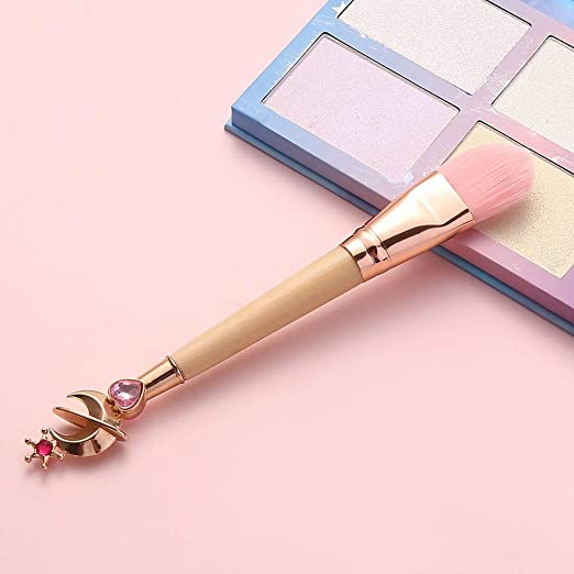 Best Quality - 1 piece sale - Hot! 4 Style Makeup Brushes Bamboo Make Up Brush Soft Synthetic Hair Collection Pink Powder Blush Brushes with Random Color BOX - by ANNELE - 1 PCs