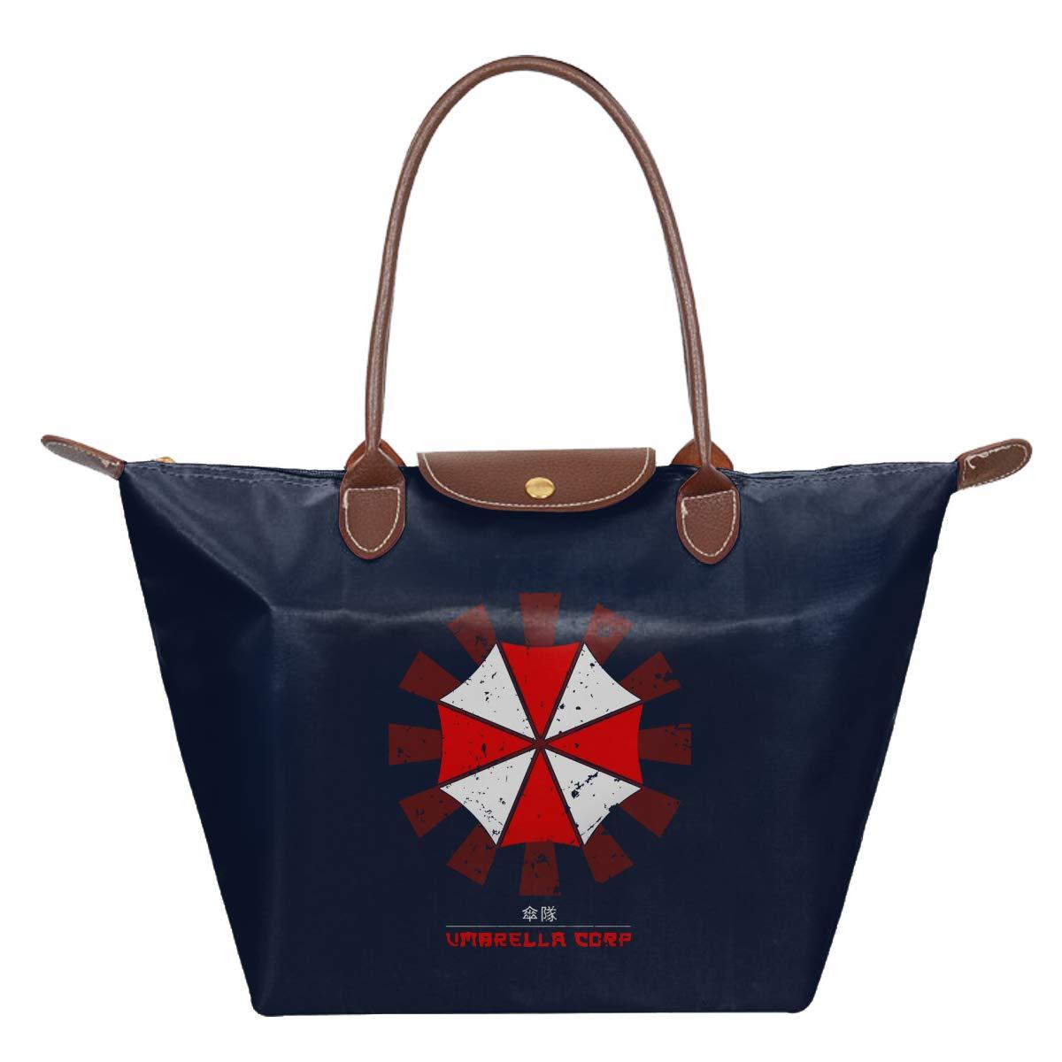 Umbrella Corp Retro Japanese Resident Evil Waterproof Leather Folded Messenger Nylon Bag Travel Tote Hopping Folding School Handbags