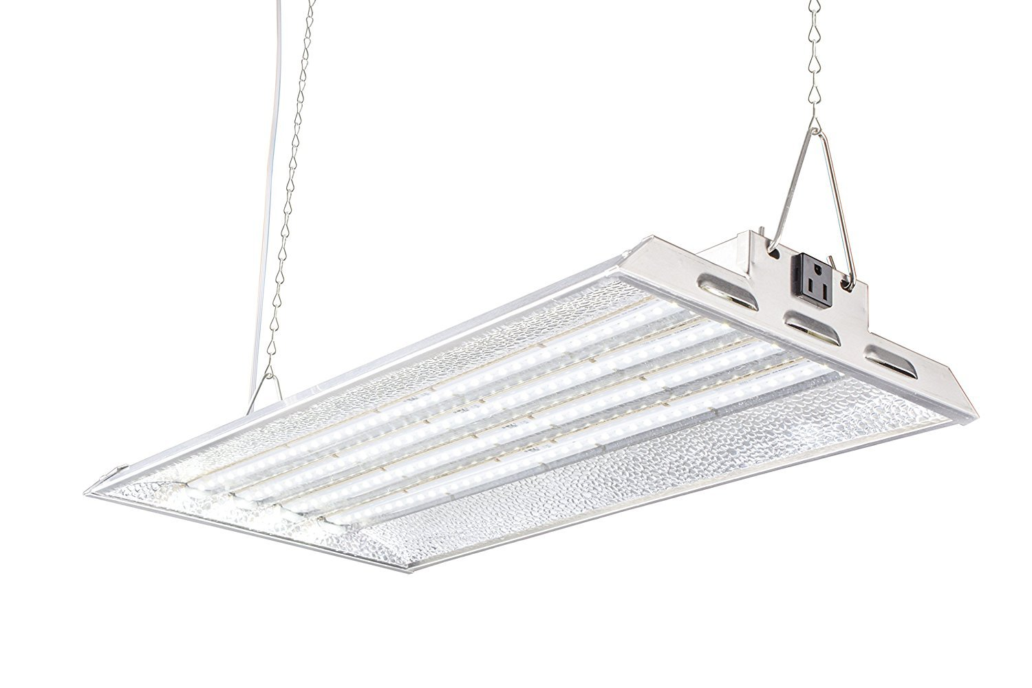 Durolux DLED824W LED Grow Light | 2 Feet x 1 Foot Real 50W LED with White 5500K FullSun Spectrum and 10000 Lux Great for Seeding and Veg Growing! Over 50% EnergySaving!