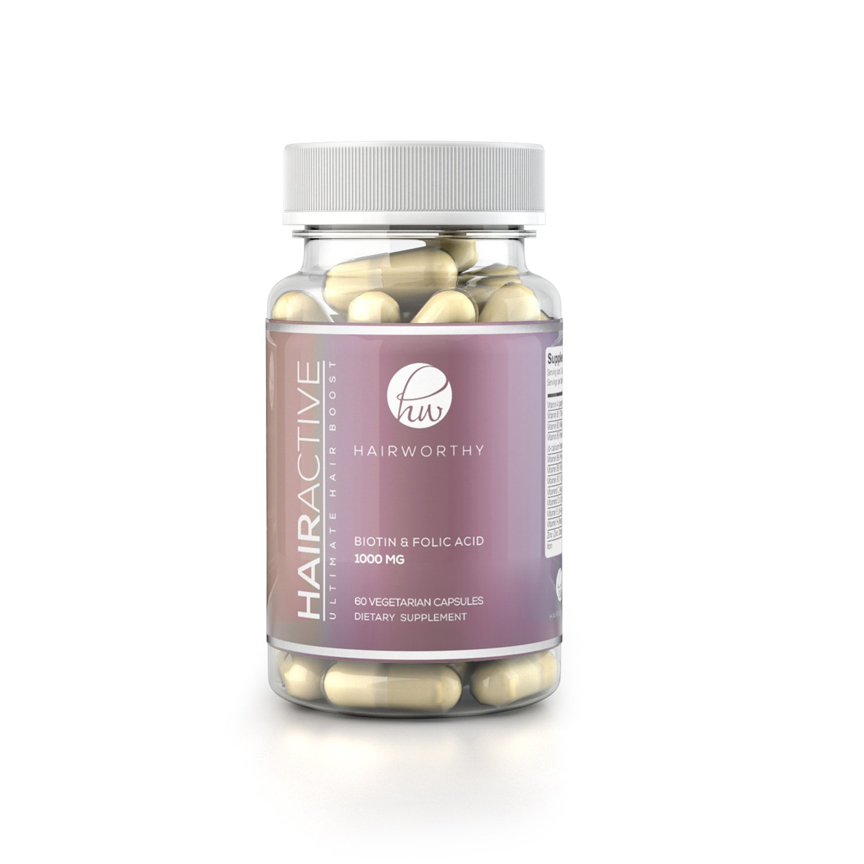 HAIRWORTHY – Crecimiento Natural del Pelo Vitaminas Veganas | Suplemento para Cabello más Largo, Fuerte